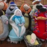 Our knitted nativity set - CWA shop Tarcutta.