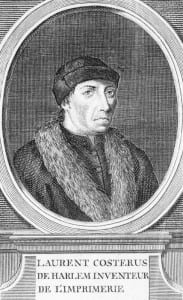 Technology change Laurens Janszoon Coster (1370-1440) Inventor of the printing press