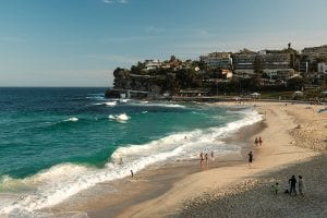 The famous Bondi beach in Sydney Australia.