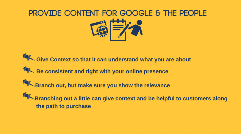 Evolution of Marketing: Provide Content for Google & the People
